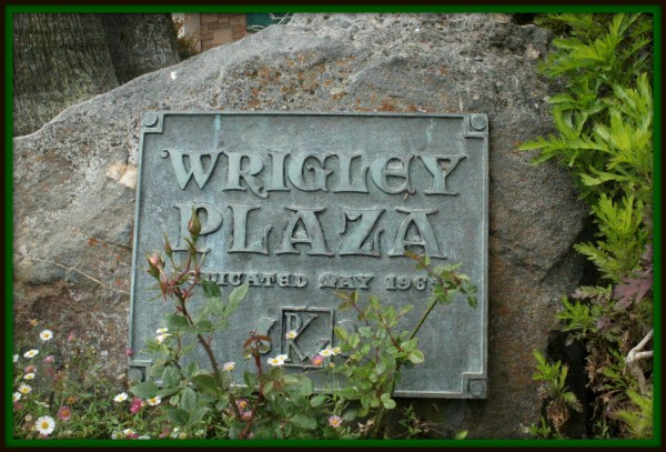 The Wrigley Plaza Plaque.  The Wrigley family was incremental in making Catalina Island what it is today.  