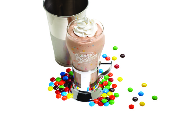 Candy Shake made with M&Ms