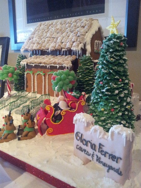 Gloria Ferrer Gingerbread House